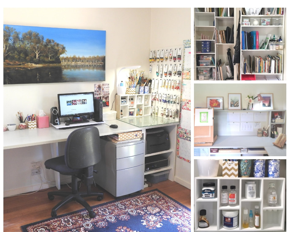 After image of studio from art organization blog post by Fiona Valentine