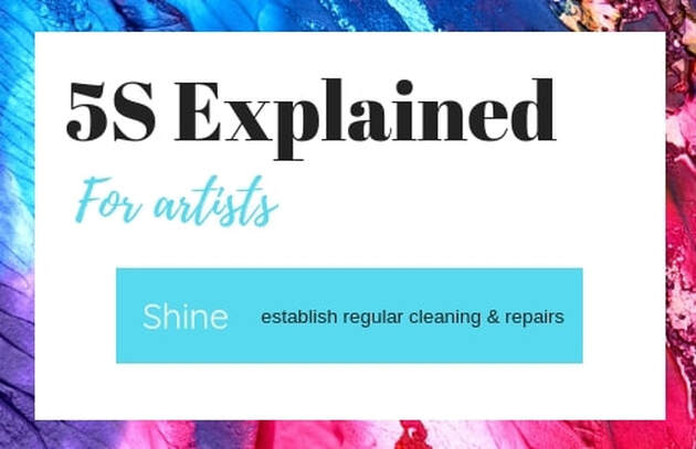 Step 3 Shine text image from art organization blog post by Fiona Valentine