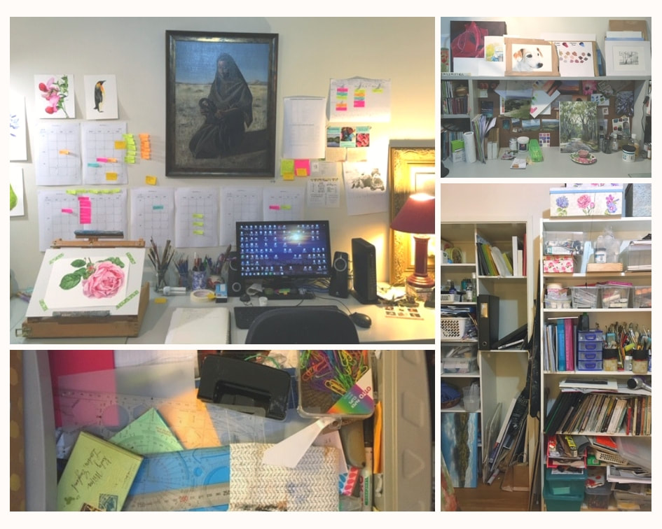 Before photos of studio from art organization blog post by Fiona Valentine